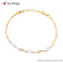74254 Newest wholesale White Color CZ Stone Lucky Bead Bracelet