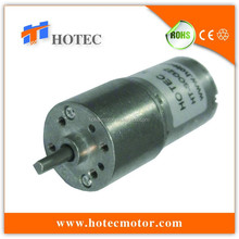 Long life low noise 4mm shaft 27mm dc 6v 120rpm geared motor