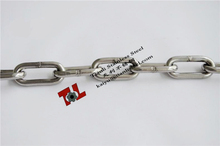 304 316 Stainless Steel DIN763 Long Link Chain with Diameter 5mm