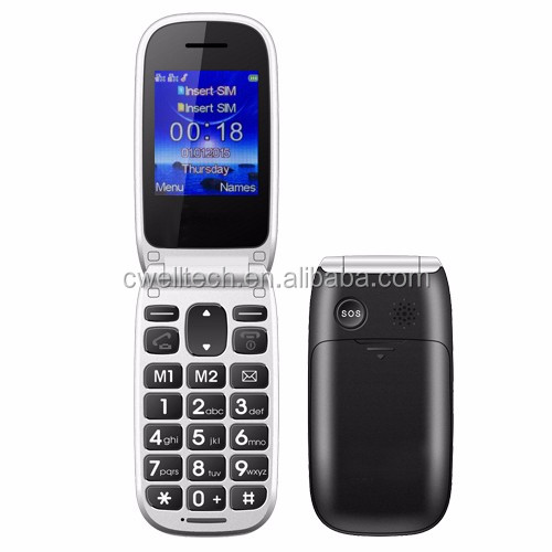 2.2 Inch Big Button PS-W77 Old Man Folding Mobile Phone