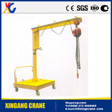 High quality small mobile portable jib crane easy to operate