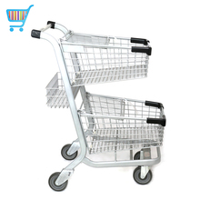two tier grocery shopping cart promotional playmarket go two shopping trolley price of a supermarket cart
