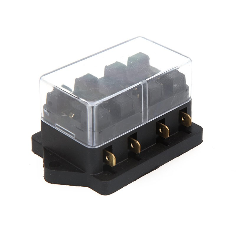 Universal Car Truck Vehicle 4 Way Circuit Automotive Middle-sized Blade Fuse Box Block Holder