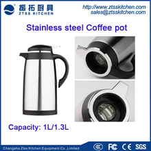 Double wall Stainless steel body with glass Vacuum Flask / Thermos/coffee pot with 1.0L ,1.3L Thermal insulation kettle
