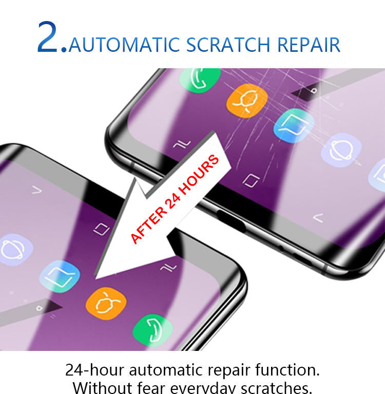 Anti Scratch Self Healing Rand Zu Rand Flexible TPU Film Screen Protector