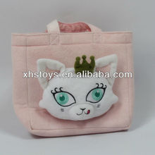 2012 new kids plush cat bag