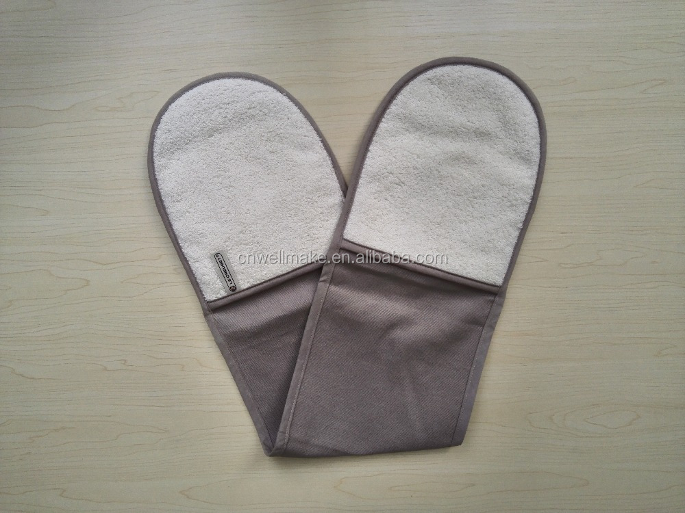 Double Oven Mitt Oven Glove BBQ Glove Potholder For Teflon Fabric