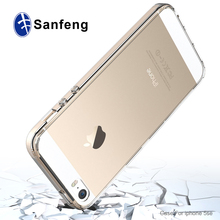 clear plastic free sample phone case for iphone SE/protective phone cover for SE