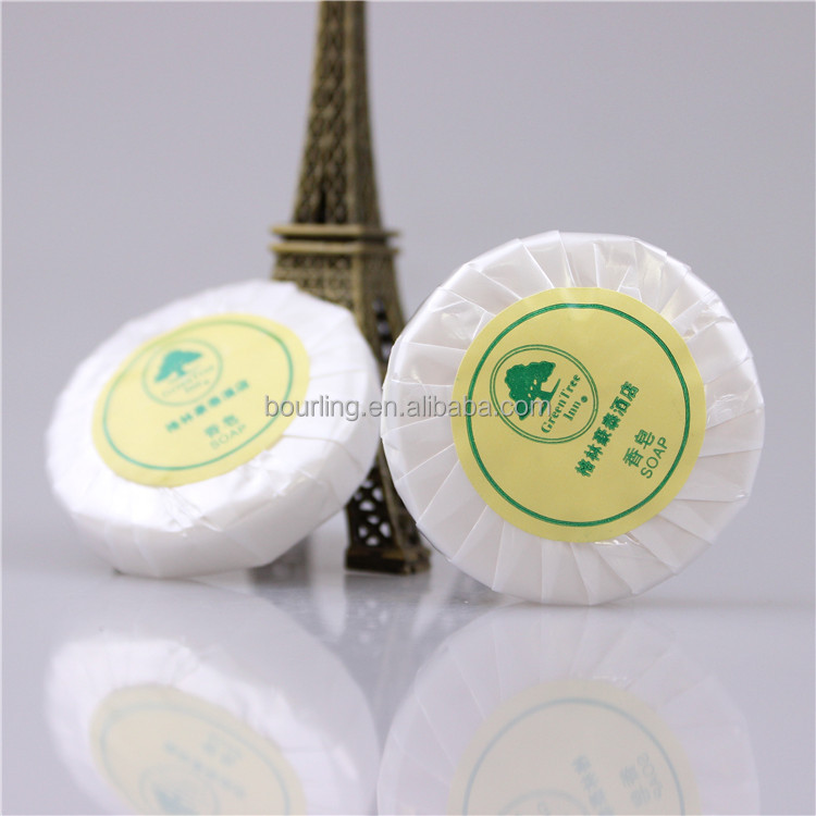 Hotel supplies white round bath toilet solid Antifungal Soap