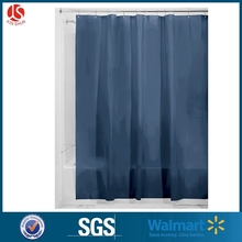Custom print hookless Mildew-Free PEVA 3 Gauge Shower Line ,72 x 72 navy shower curtain
