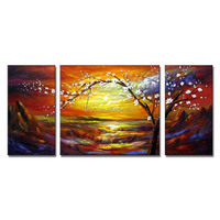 Modern Handpainted Wall Tree Landscape Oil Painting Art For Home Decor