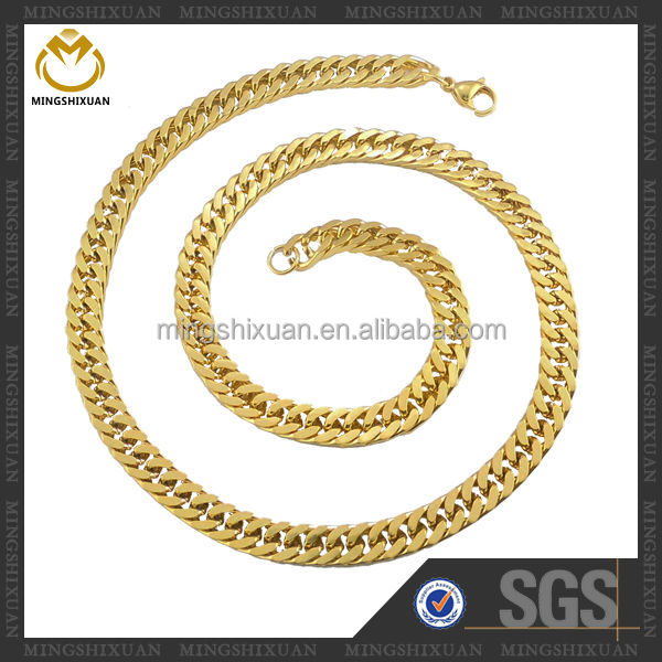 Fashion jewelry best selling stainless steel latest gold chain designs 2012