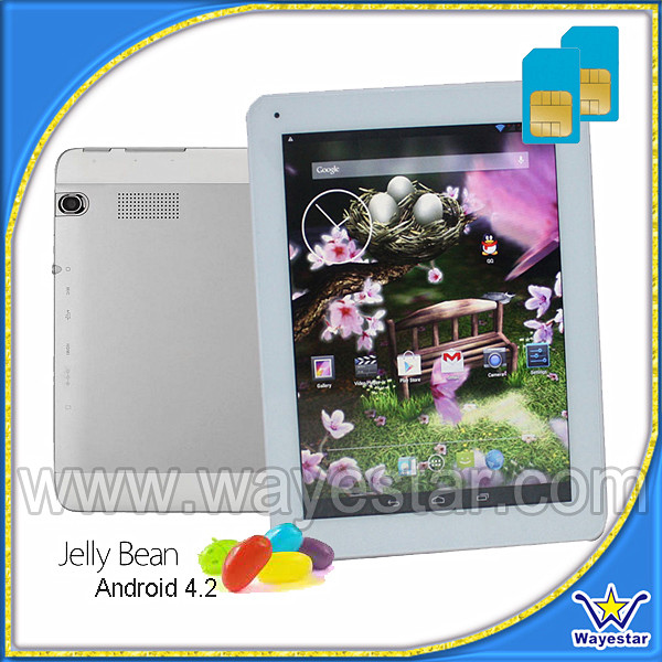 9.7inch Tablet support 3G 850/1900/2100 Mhz Frequency