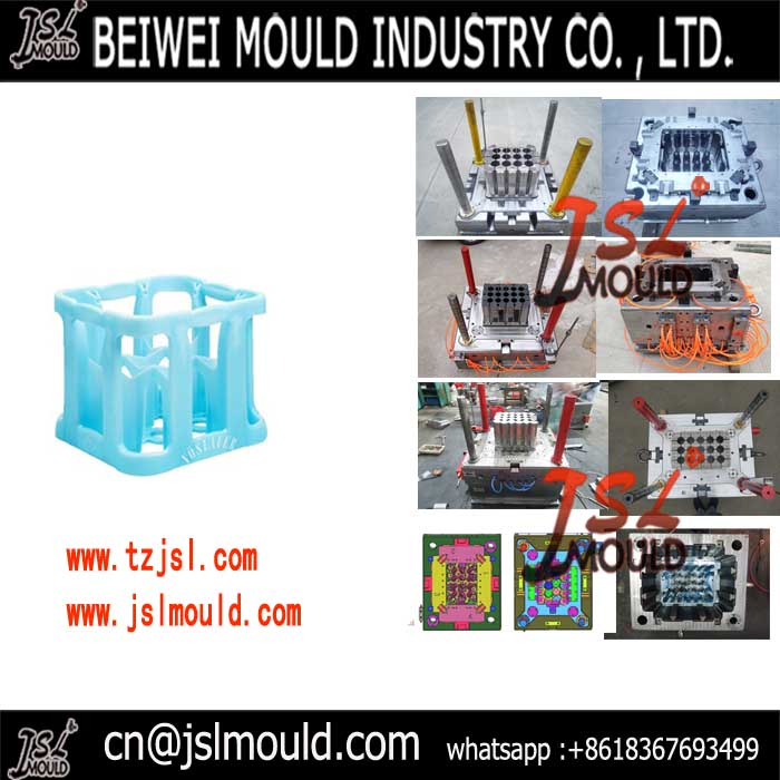 Experienced in plastic beverage crate mold