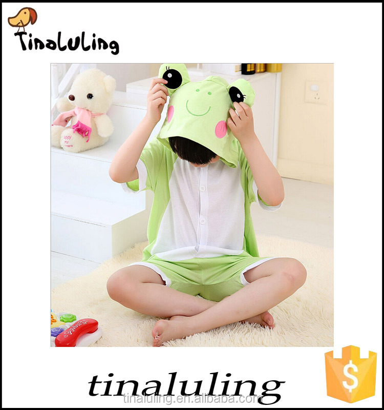 wholesale clothing frog cosplay summer Hooded baby clothing animal costume for kids