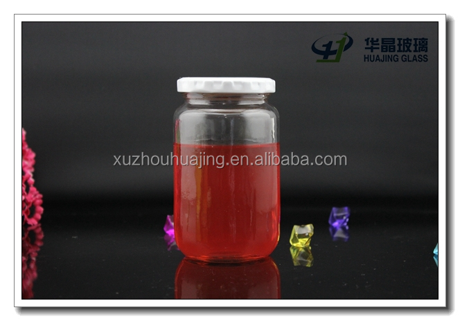 High quality 370ml 12oz clear empty wide mouth glass tissue culture jar wholesale