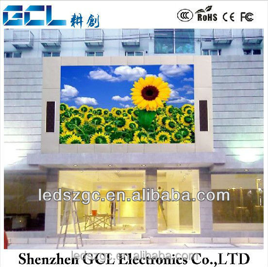 Shenzhen factory outdoor programmable advertising led display/double-sides outdoor led billboard/P10 outdoor led panels