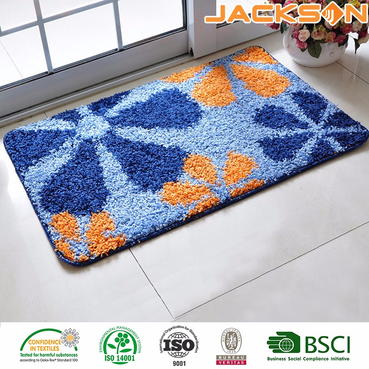 Machine Printed Customized 100% Polyester Cheap Home Welcome Entrance Door Mat