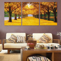 Hot sale Factory produce landscape painting giclee printing wall art painting set 3 Panel