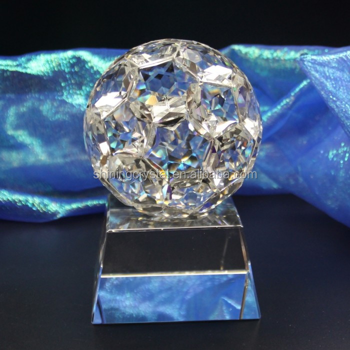 wholesale crystal football trophy award sports trophy