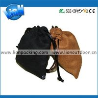 Excellent quality hot selling purple suede pouch bag