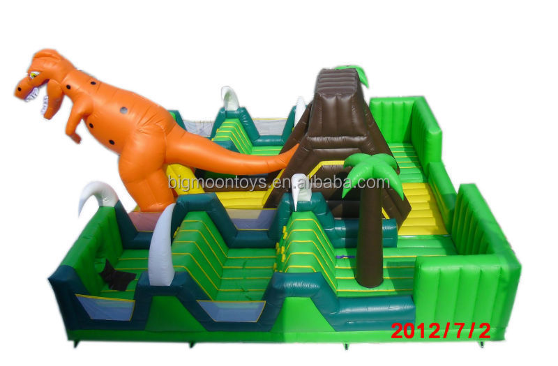 2016 Hot Commercial Dinosaur Inflatable Children Playground