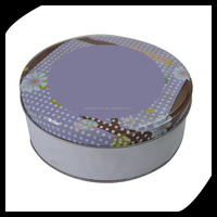 Cute Round Perfume Gift Tin Can Small Metal Tin Boxes Fancy/ empty round candy tin box