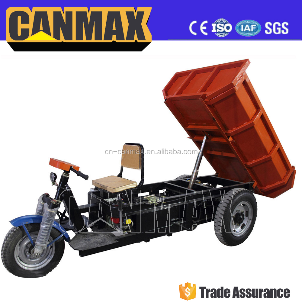 Popular battery cargo tricycle with hydraulic system/high quality three wheels tricycle motorcycle 3 wheel