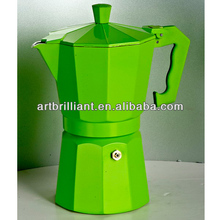 Green colored 1/3/6/9/12 cup ( Italy mocha ) espresso pod coffee maker