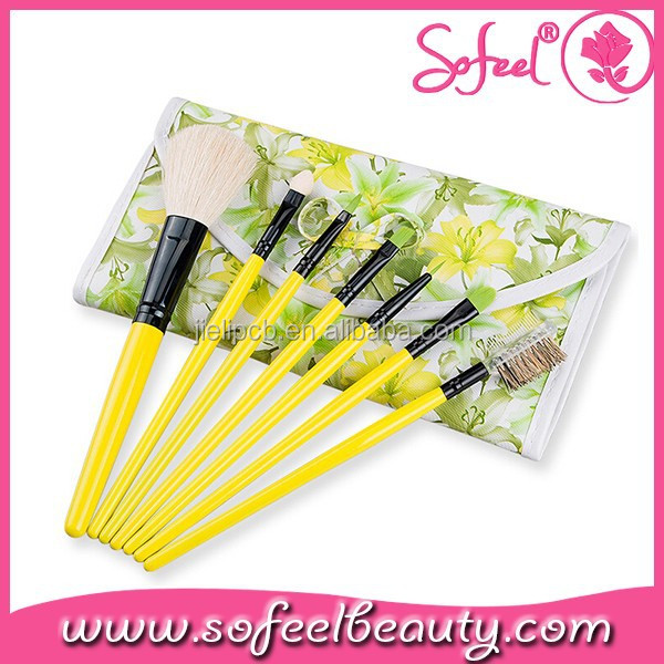 7pcs beauty designer makeup brush cosmetic gift sets