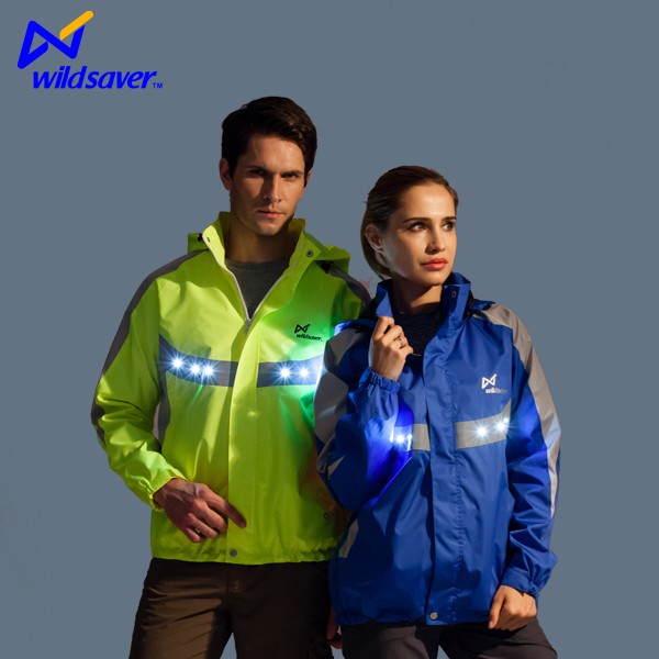 LED reflective cycling hoodie jacket for cycling sports