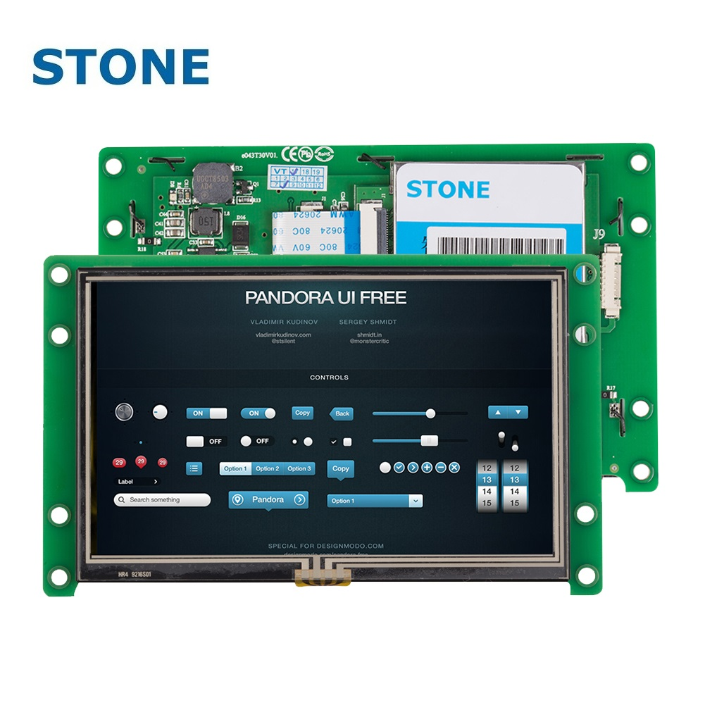 STONE 4.3 Inch Touch LCD TFT Monitor Intelligent Display For Car Dashboard