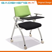 Foshan Supplier Foldable Office Training Chair With Tablet Arm