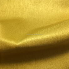 Plain Dyed Composited Yarn 50D+50D*150D Satin Peach Skin Fabric for Brand Ladies' Garments