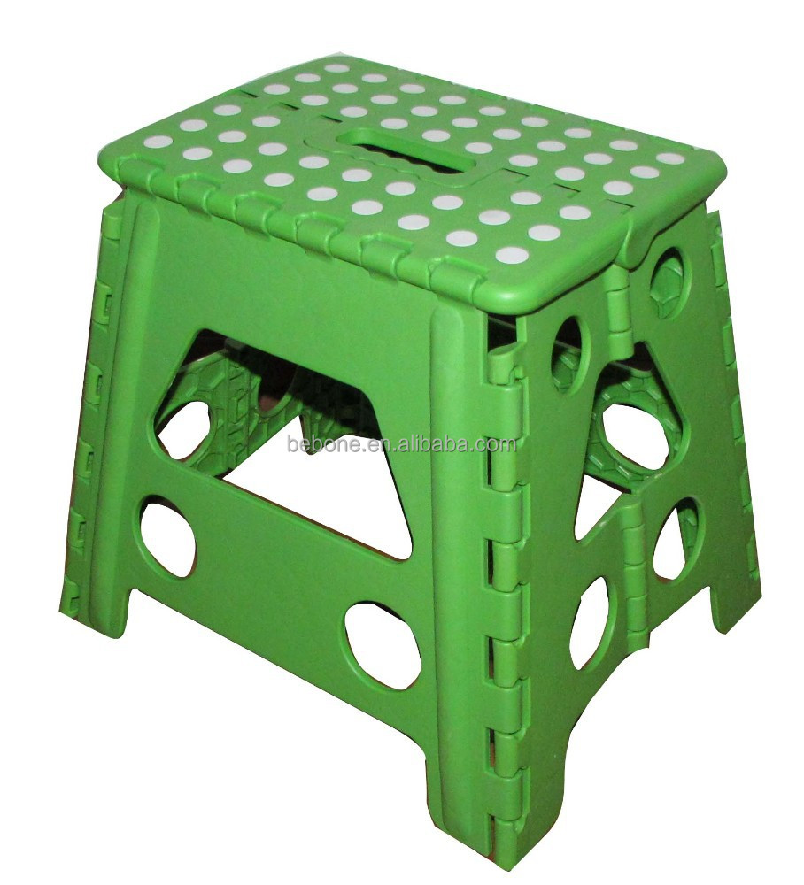 Manufacturer supply good quality plastic stool chair with spots for sale plastic folding stool