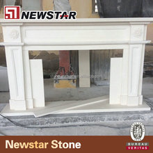 Newstar Frestanding White Cheap Decorative Wall Surround Antique Modern Indoor Outdoor Stone Marble Fireplace Mantel Frame