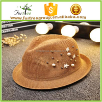 new arrival paper straw hats Mexico fedora hats wholesale