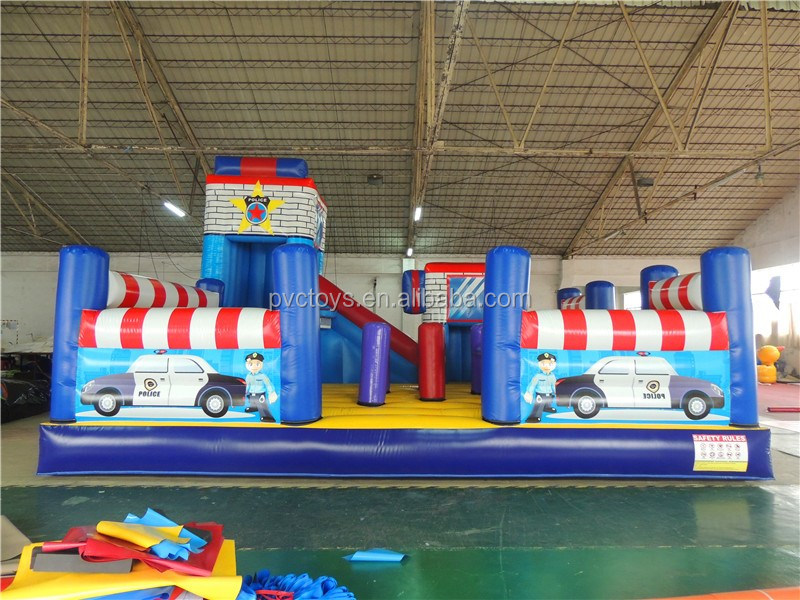 2016 best quality inflatable adult fun city equipment trampoline rider