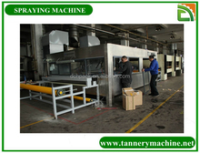 automatic leather spray painting machine