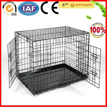 Foldable Two-door Metal Wire Pet Dog Kennel