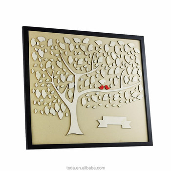 Trade assurance supplier Professional Wedding Supply wooden wall hanging Wedding Guest Book