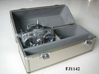 strong aluminum helicopter carrying case with custom foam insert and EVA lining