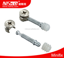 High quality furniture accessory kd fitting Furniture connecting fitting 3 in 1 minifix