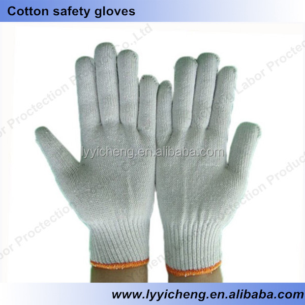 7/10 gauge white knitted cotton gloves manufacturer in china/vibration hand gloves massage sex toys