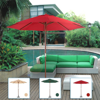 9FT balcony or swimming pool use wood patio parasol