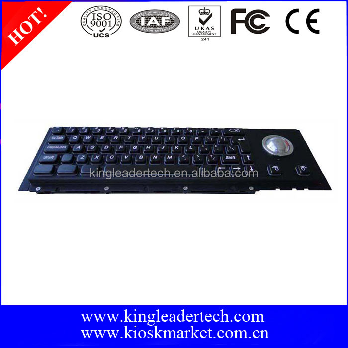 Black metal Mechanical Keyboard with Cherry key switch