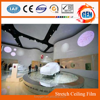 modern halls false ceiling decorate clearly pvc stretched light colors ceiling film