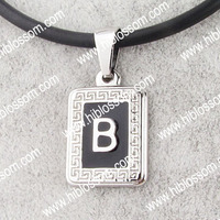 jewellery charm pendant stainless steel different styles alphabet letters