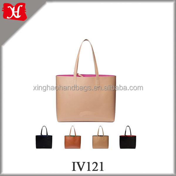 Lady Fashionable Genuine Vegetable Tanned Leather Tote Shopper Bag