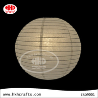 Wedding decorative regualr round hanging steel handicrafts white 36 inch paper lanterns